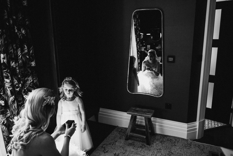 Creative reflection of bride