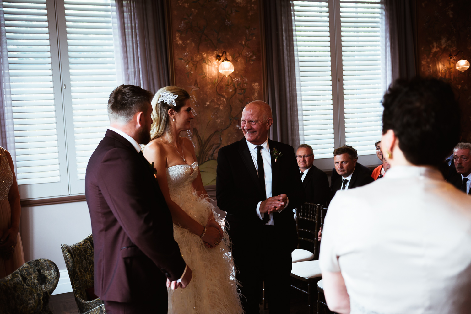 Tearful father of the bride