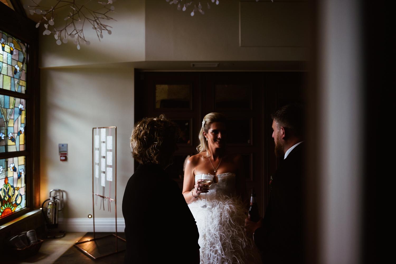 Bride in natural window light