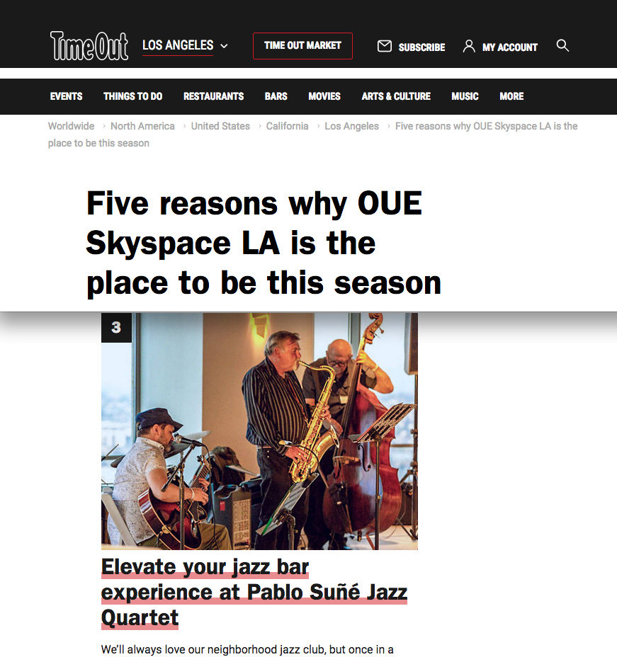 Time Out LA - 5 Reasons Why OUE Skyspace is the place to be this seasonFeautured on TIME OUT LA