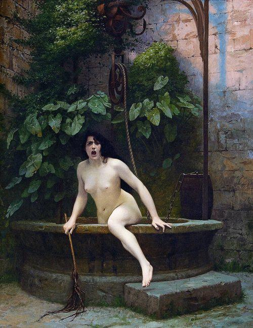 Truth Coming Out of Her Well to Shame Mankind , 1896 by Jean-Léon Gérôme