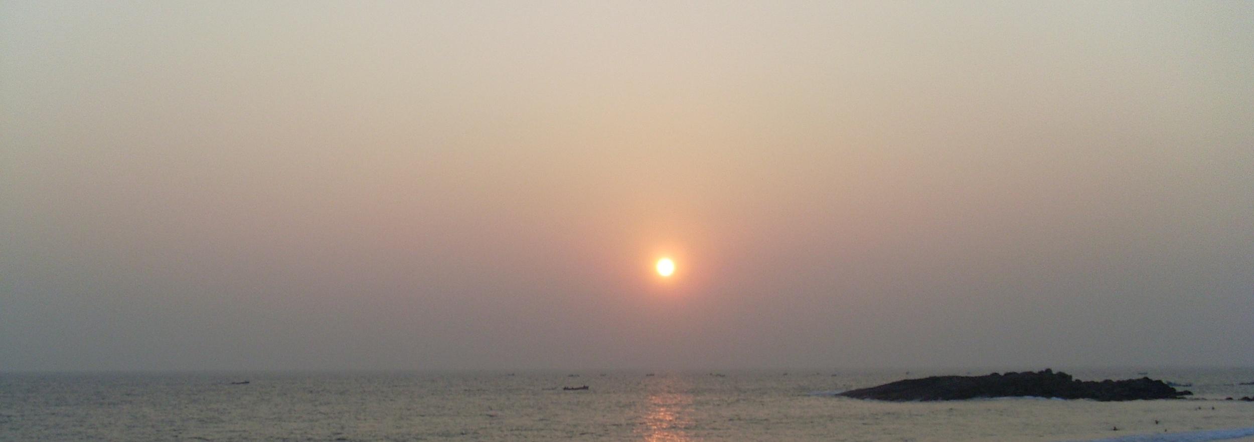 Sunset over Lighthouse beach