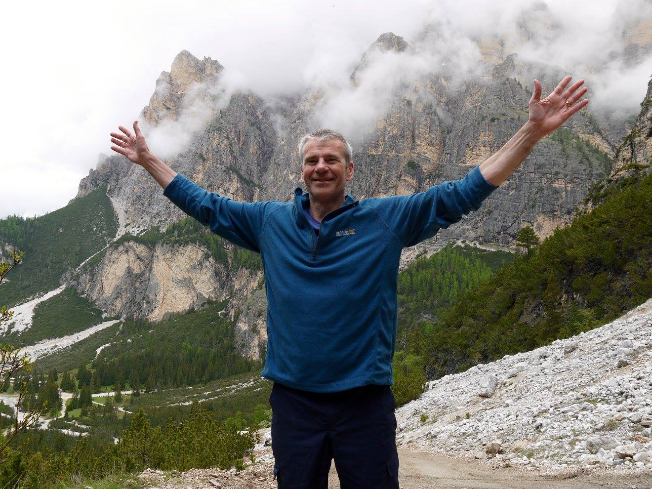 Enjoying one of my favourite activities - walking.  Dolomiti, Italy