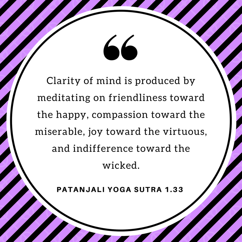 From Chapter 1 of the Yoga Sutra