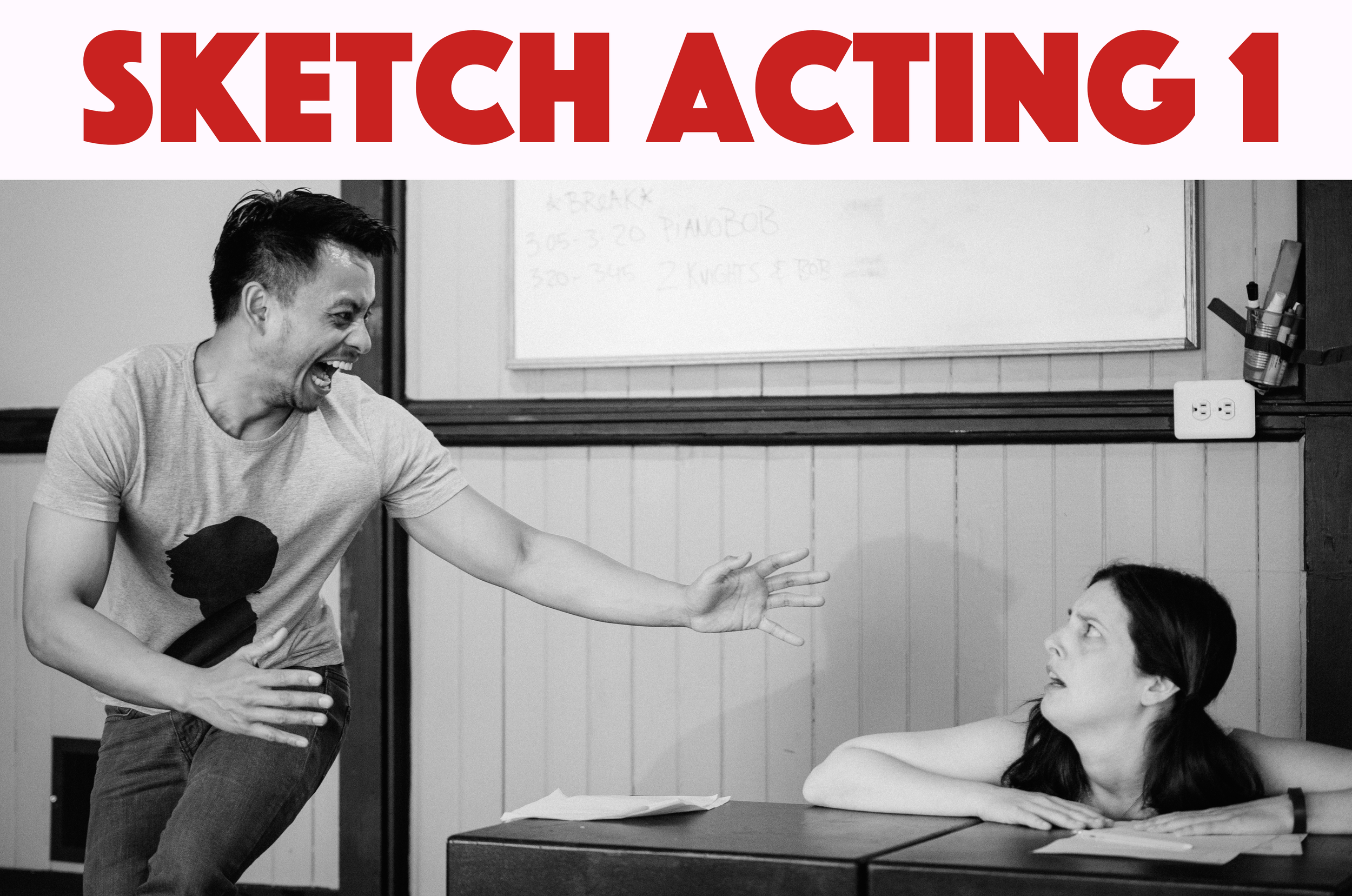 """Learn to perform sketch comedy The KML Way: through intuition, dedication, and collaboration. Learn to take risks, trust your instincts, and """"find the game."""" Sketch Acting 1 is open to all experience levels."""