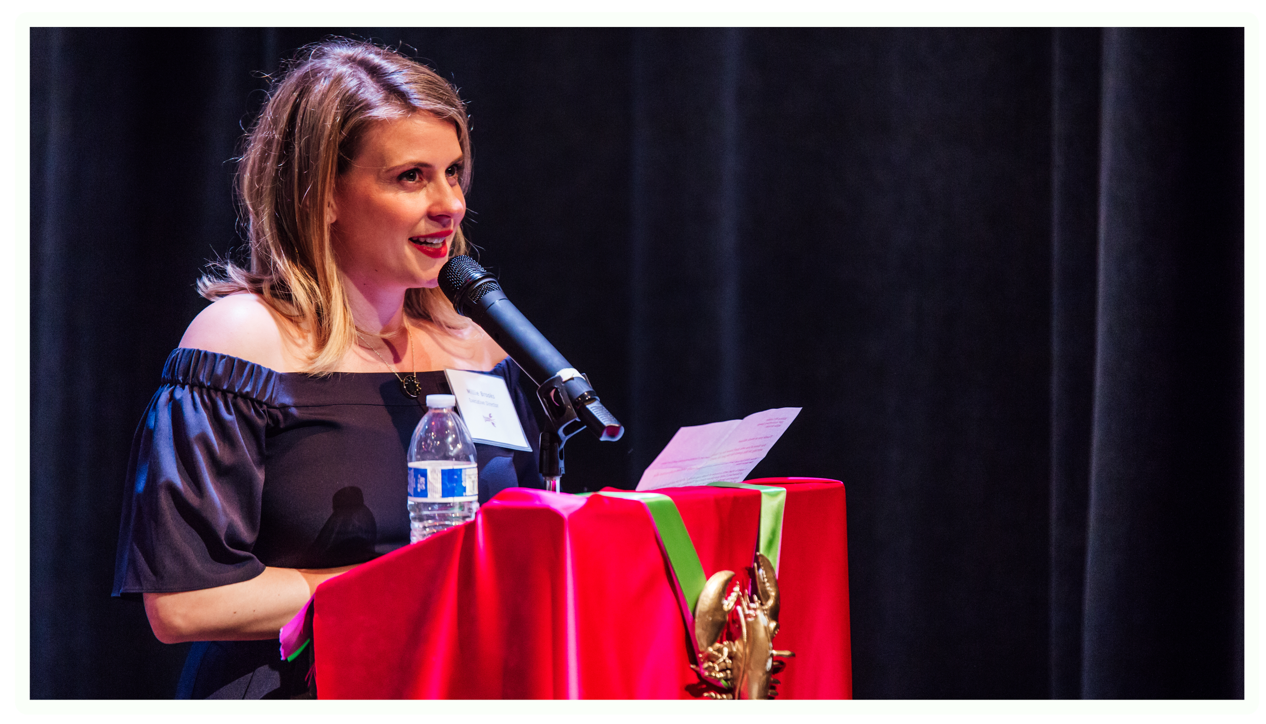 Millie Brooks giving the KML speech of a lifetime. Photo by James Jordan Pictures.