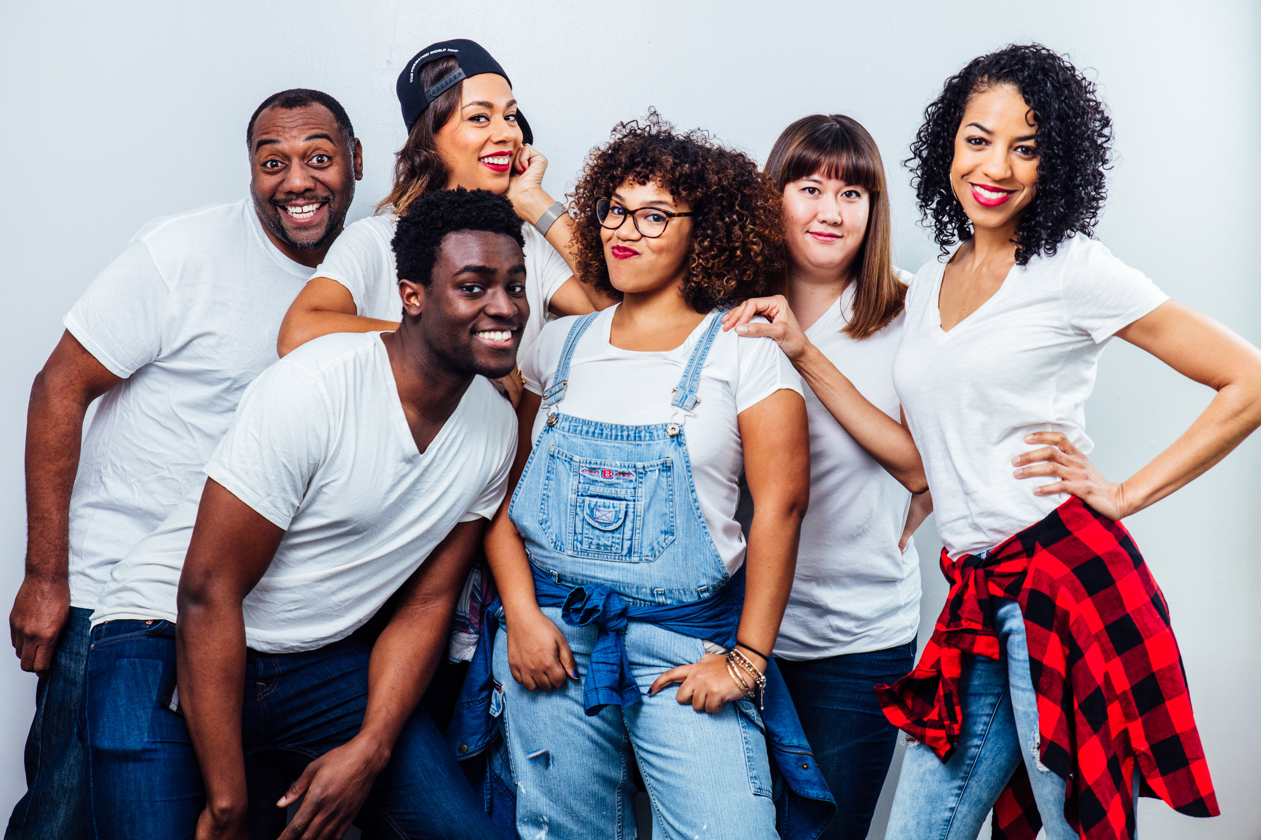 The cast of Honey, I Shrunk The Whites. Photo by James Jordan Pictures.