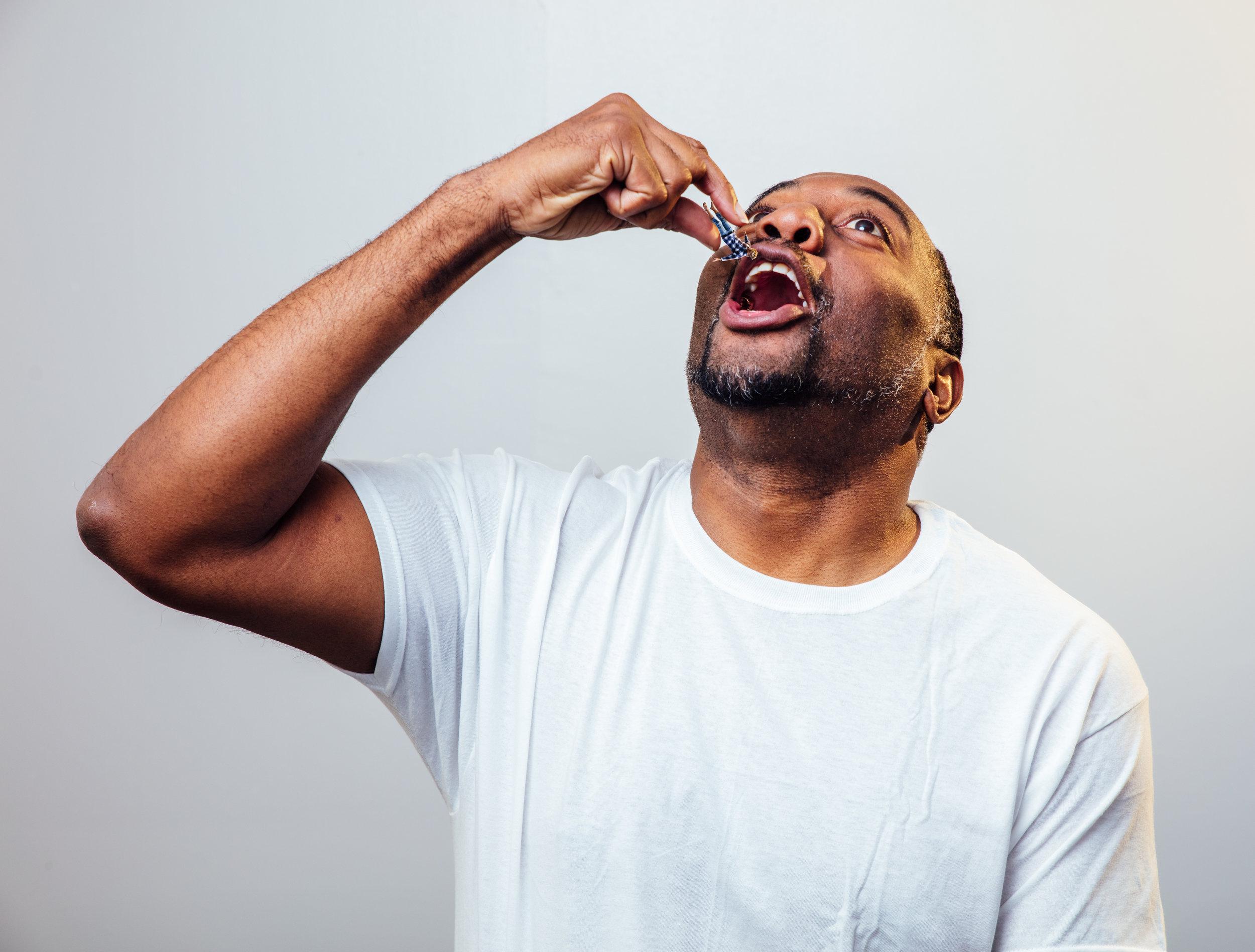 Dorian Lockett in Honey, I Shrunk The Whites. Photo by James Jordan Pictures.