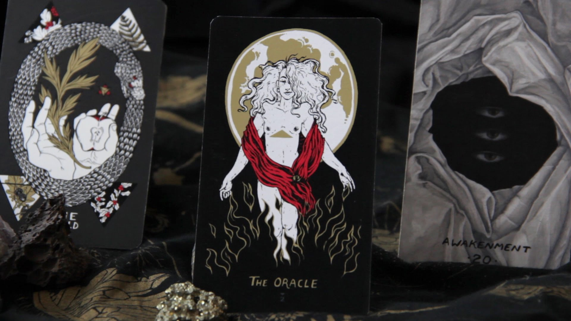 THE ORACLE (2015)   card design for     SLOW HOLLER TAROT     offset-printed deck