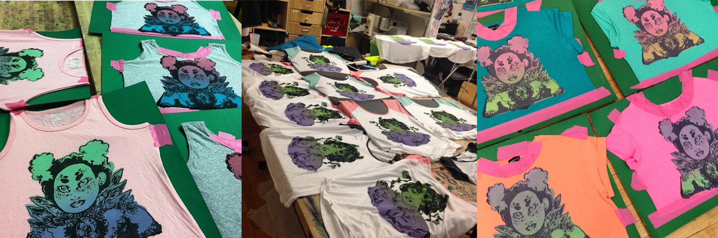 (2014-2015)   screenprinted shirts, various designs