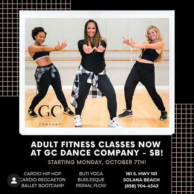 Excited to be adding your favorite classes and teachers  to @gcdancecompany in Solana Beach!. . It all starts next week... . . . . #solanabeach #dance #fitness @butiyoga @sleektechnique
