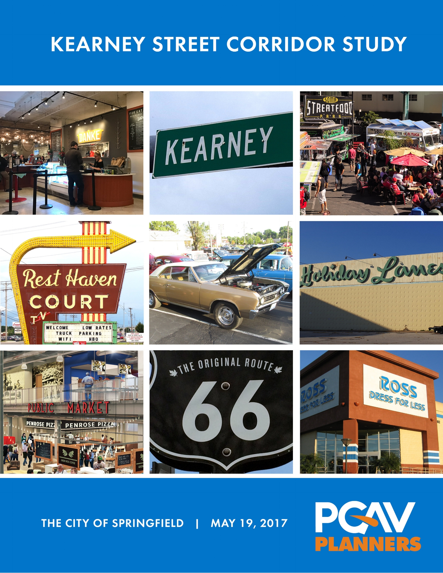 The City is using the Kearney Street Corridor Study from PGAV to create a redevelopment plan for the former Route 66 bypass.