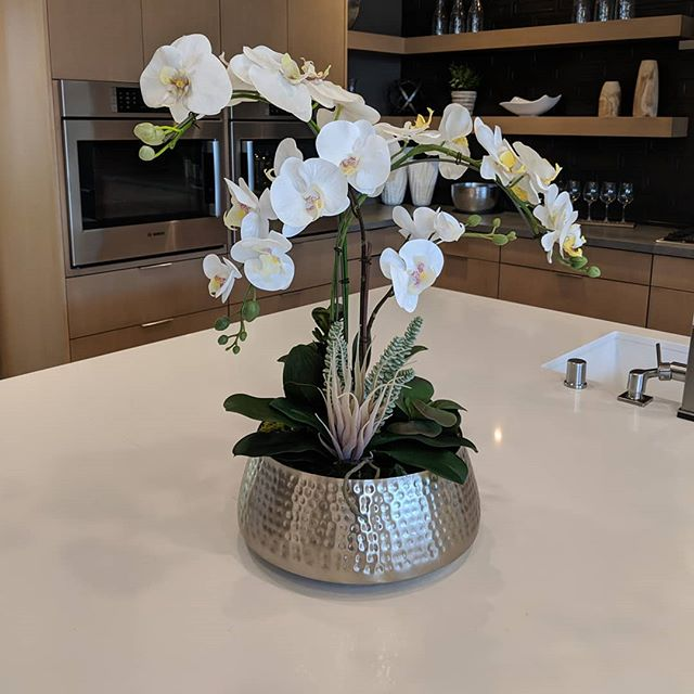An artificial orchid arrangement we did for Pardee Design Center