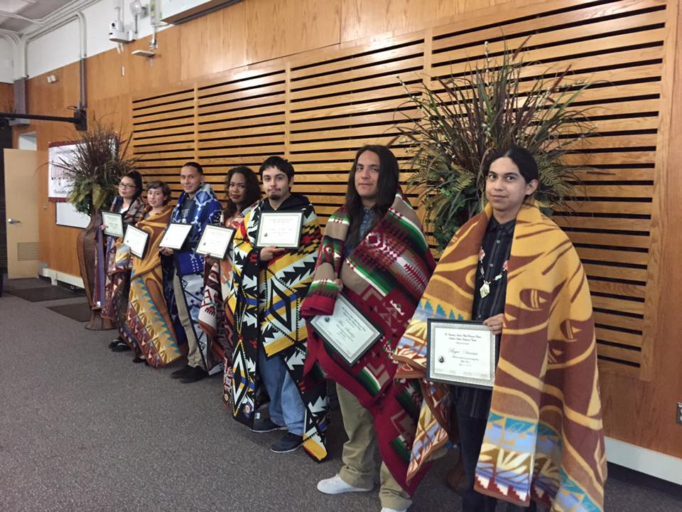 Thank you to our community who came out in support of our American Indian graduates for 2016. Thank you to Donny Adolph and Chris La Marr for their motivational and moving speeches. Thank you to the family members who attended to show their love and support to the graduates.   Sincere gratitude to Gathering Tribes, SideBar, Oaktown Spice Shop, Knimble, Bills Trading Post, Urban Native Era, Yeem Tax Services, Sandra La Framboise, Sherry Wilson, Solis & Natalie Aguilera, Virginia Elizando, Mike Pfeffer, Grand Lake Theatre, Star Pizza , Two Rivers Circle and all our raffle ticket buyers for your generosity.