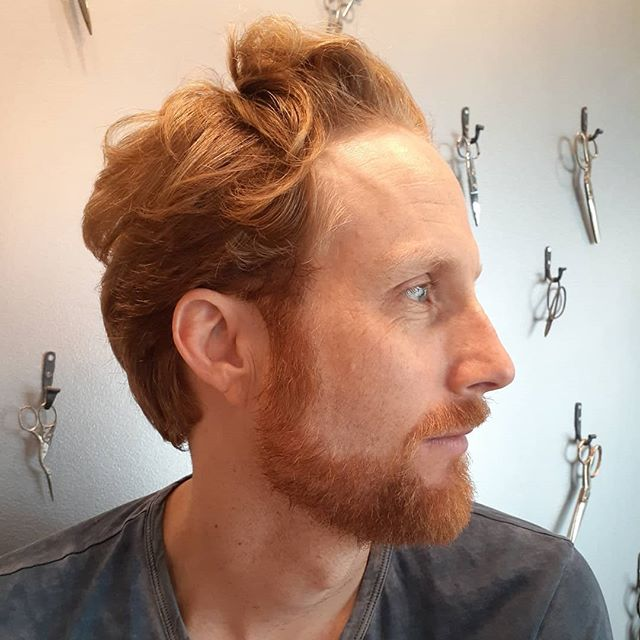polished mens cut with a touch of an intentional mess! Shear over comb cut by hair artist, Ari. [: Hook + Scissor SF :] #menscut #polished #sfstylist #bayareahair #hookandscissor #hookandscissorsf #shearovercomb #customcuts #goodhair #shaggy