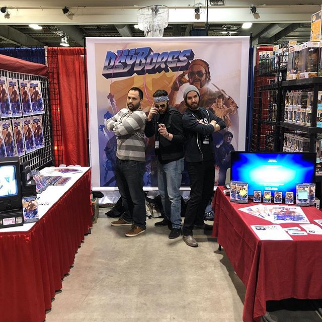 It's Day 3 @calgaryexpo! Get your buns down to booth 1011 and pick up a #VHS copy or #poster of your favorite Canadian psychic heroes! And then have your favorite @thepsyborgs sign it! @storyhive @nsicanada @nickexpress @d.myatt @bradonfaphon 🥎#booth1011 #comics #thepsysthelimit