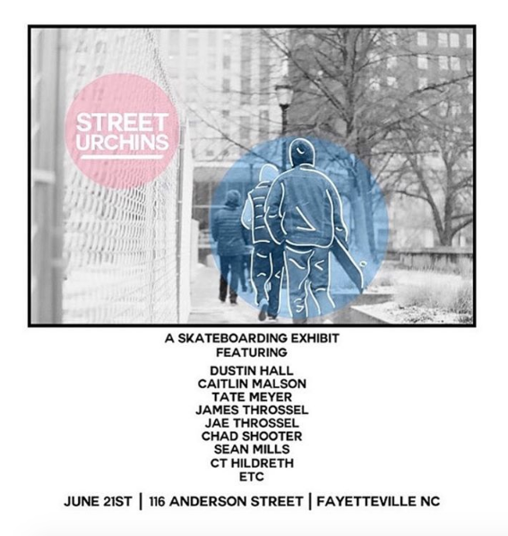 Join us for opening night of STREET URCHINS at Gallery 116th downtown fayetteville.