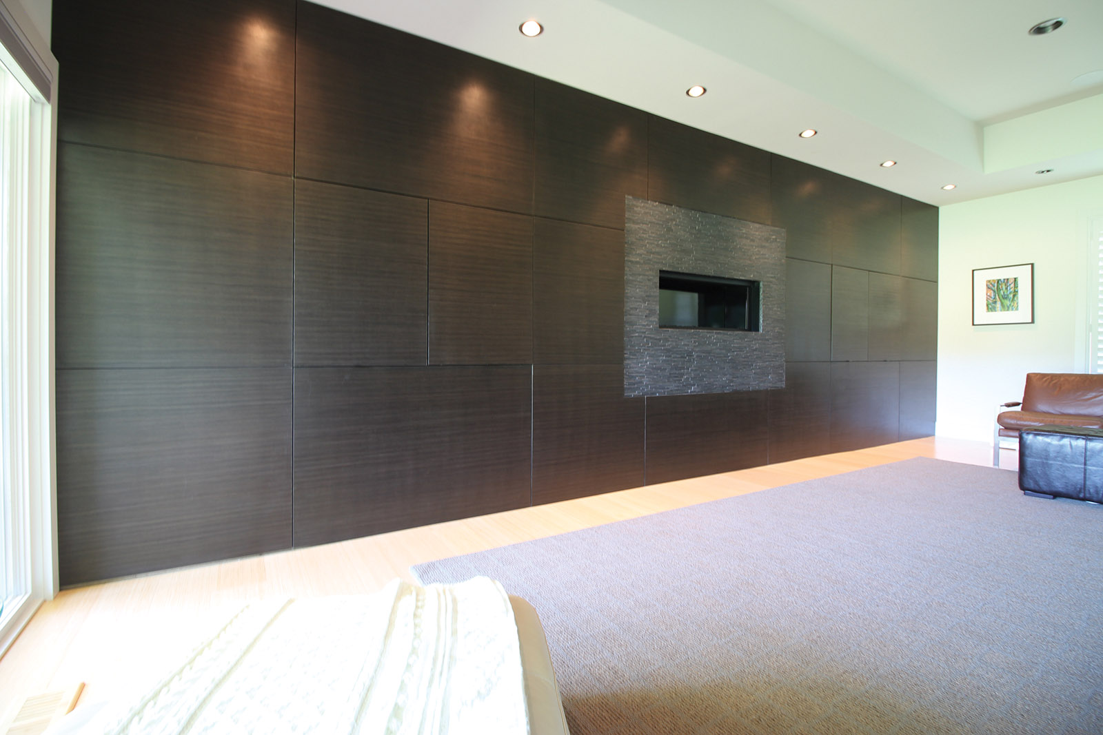 Contemporary Entertainment Wall System