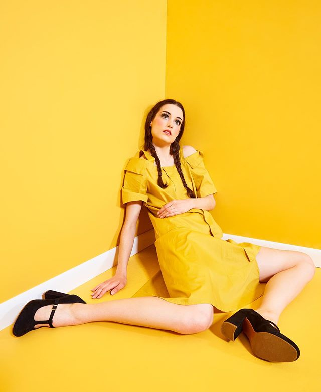 Seeing yellow? @lil.willard wearing @shoptheartofstyle ::