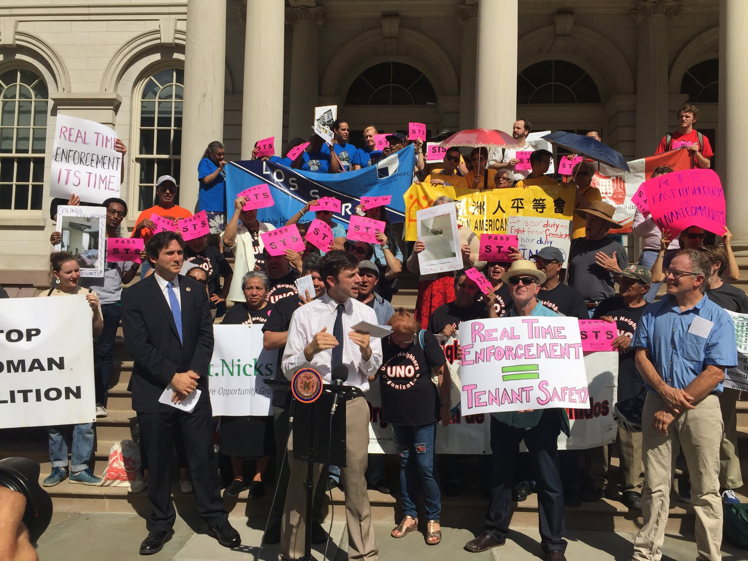 The Stand for Tenant Safety (STS) coalition is made up of grassroots tenant organizing groups