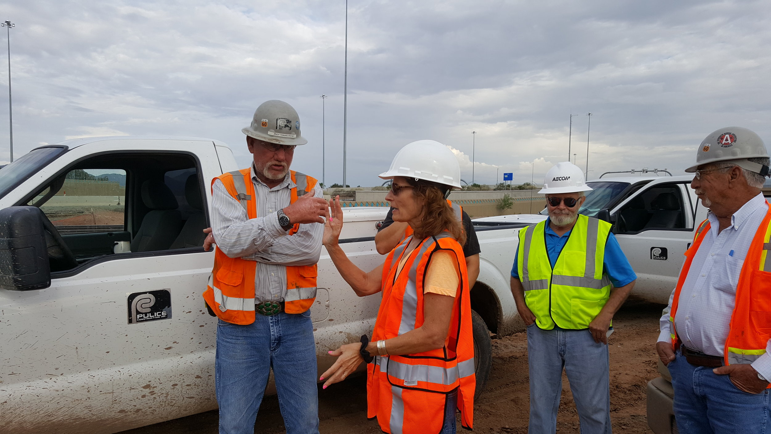 Edie Griffith-Mettey at I-10/Prince Road construction site