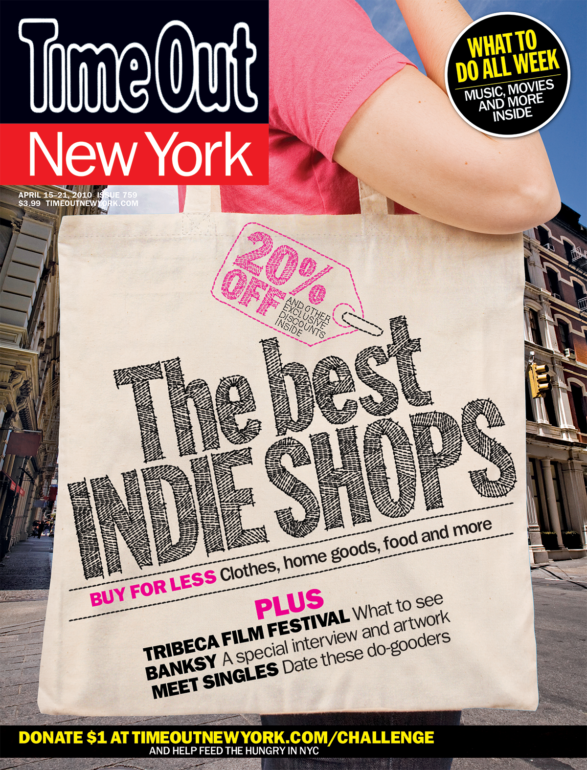 Typography treatment and cover design     Time Out New York