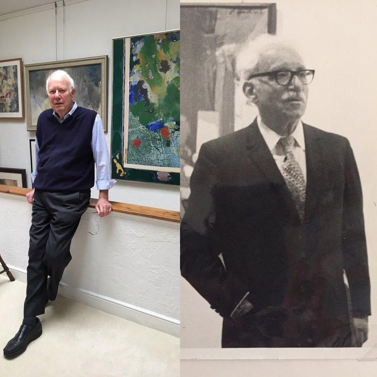 Left: Richard M. Buxbaum in his Berkeley home, September 2016  Right: Henry Buxbaum at the opening of Carl Heidenreich's exhibition, Goethe Institut, New York, 1971