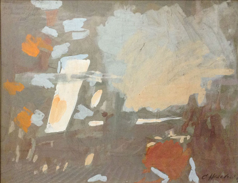 Untitled. 1961. Mixed media on paper.