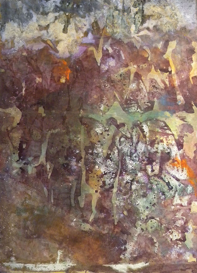 Untitled. 1958. Mixed media on paper.