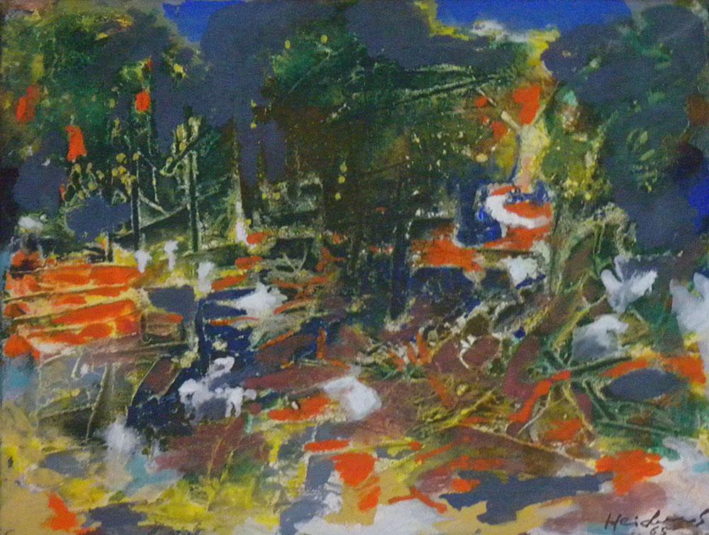 Cityscape. 1965. Oil.