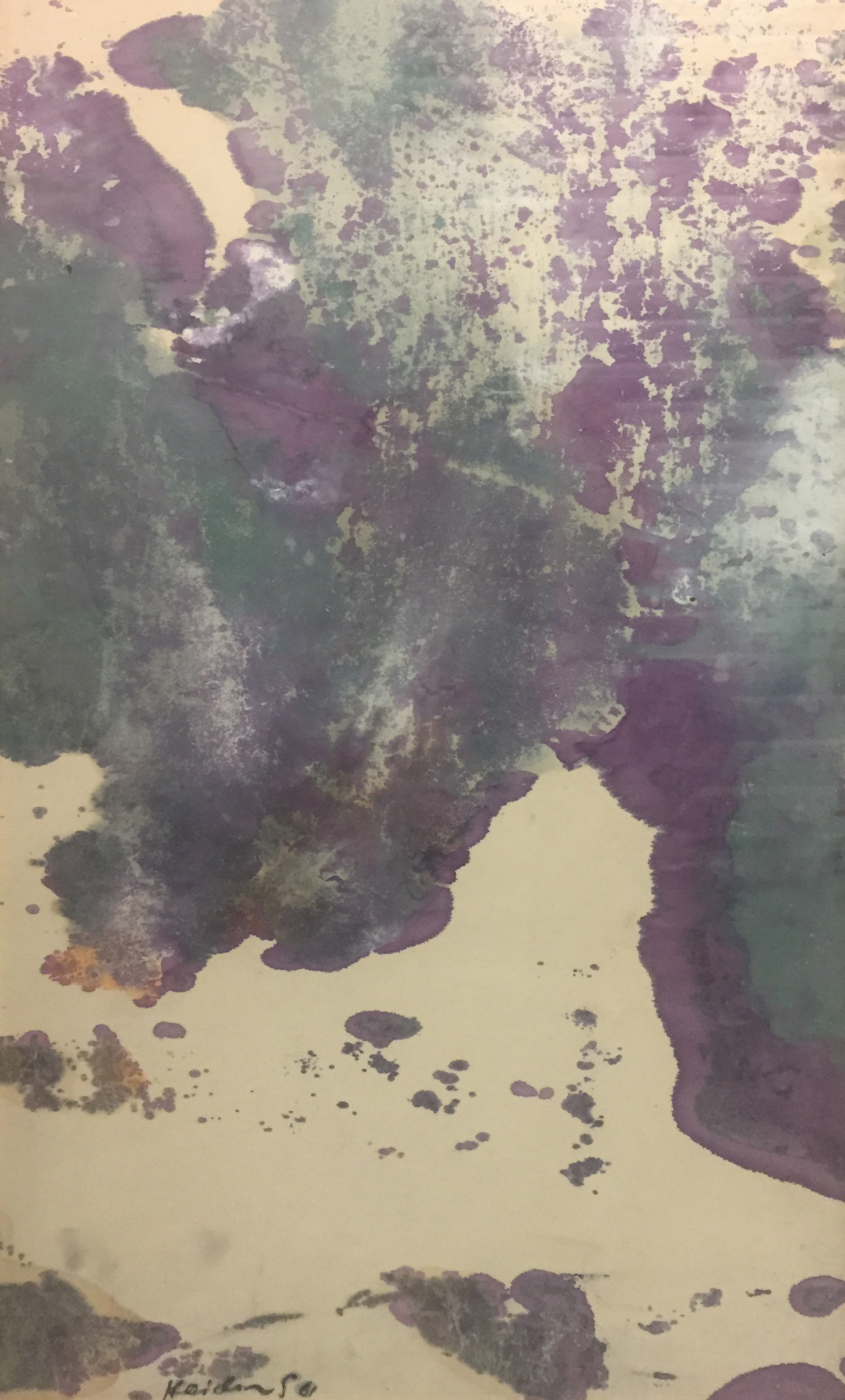 Untitled (Purple and Green). 1961. Watercolor on paper.