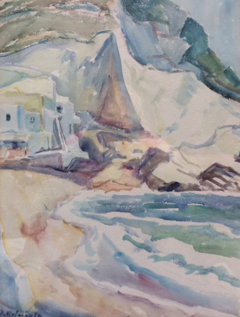 Unknown (Beachscape). N.d. Watercolor.