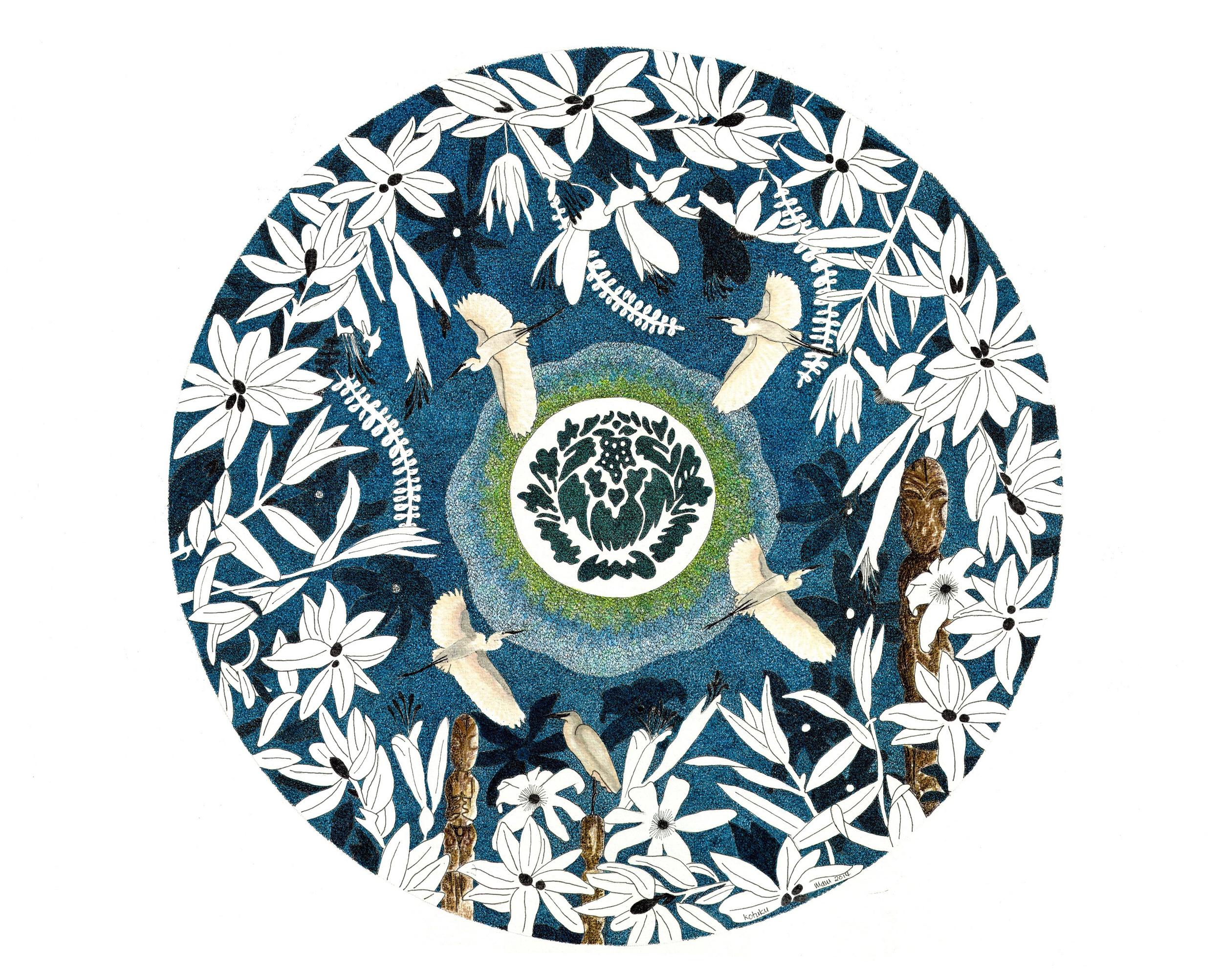 'Kotoku II - White Heron'