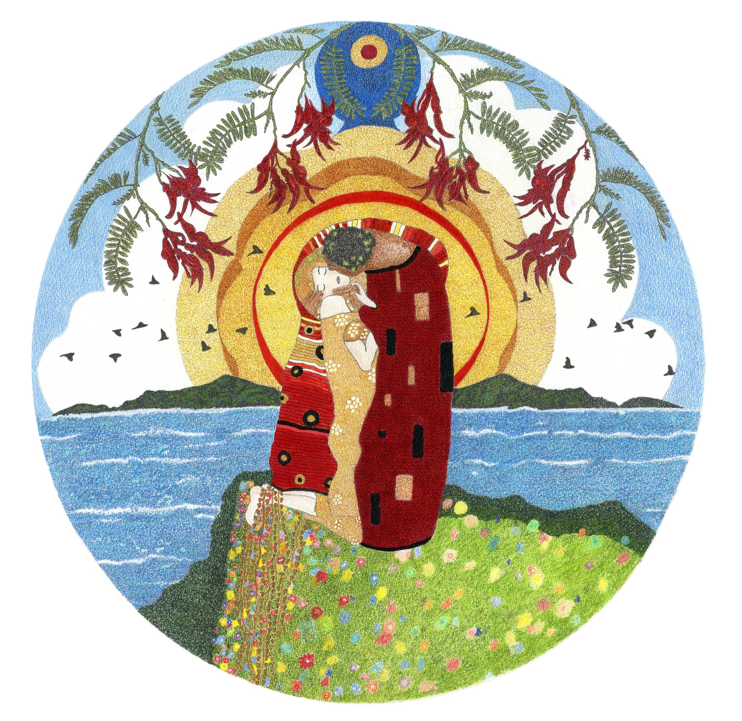 'Lovers III (Klimt)'