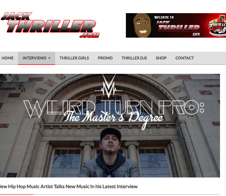 I love my supporters and like most independent artist my inspiration and lively hood stems from the connection with my fans. I wanted to offer my fans something special for purchasing my album, so my team and I came up with a Limited...    Read the full Interview here:  http://jackthriller.com/new-hip-hop-music-artist-talks-new-music-latest-interview/