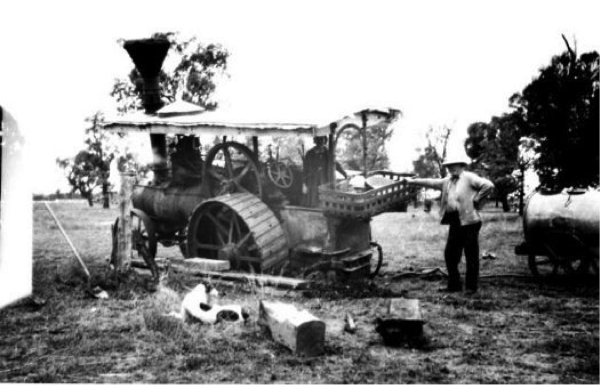 Photo by Edward Mills - Steam Tractor - Bogged on Willowvale Station - Australia - Image is courtesy of the Victorian Museum - Melbourne, Australia