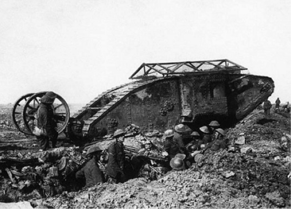 A Late Model Mark V - perhaps the most enduring example of World War I tank development.