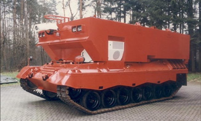 Leopard 1 Jumbo 20 Tonne Tank, built by Texoga Corp in the US (Image via Rusados)