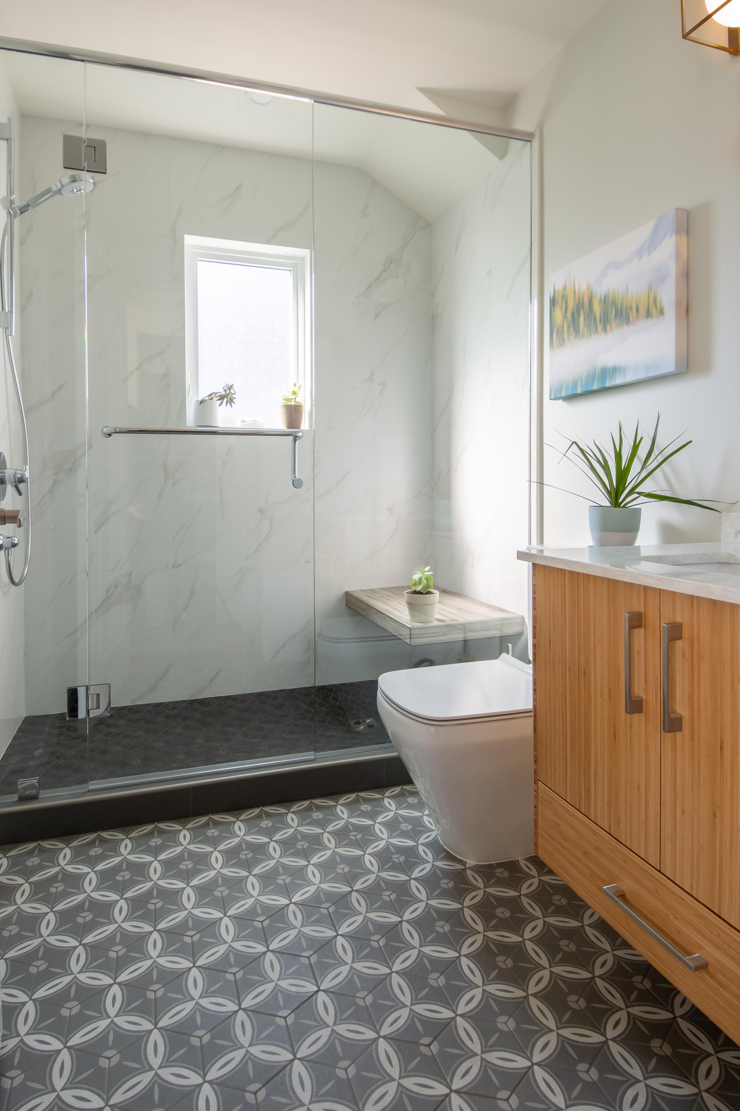 Atelier Design+Build Victoria BC — Custom tiled bathroom