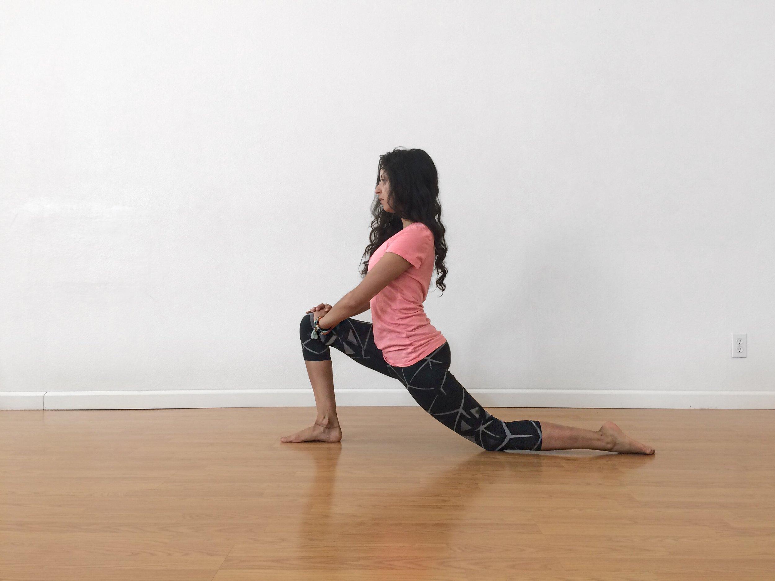 low lunge yoga pose