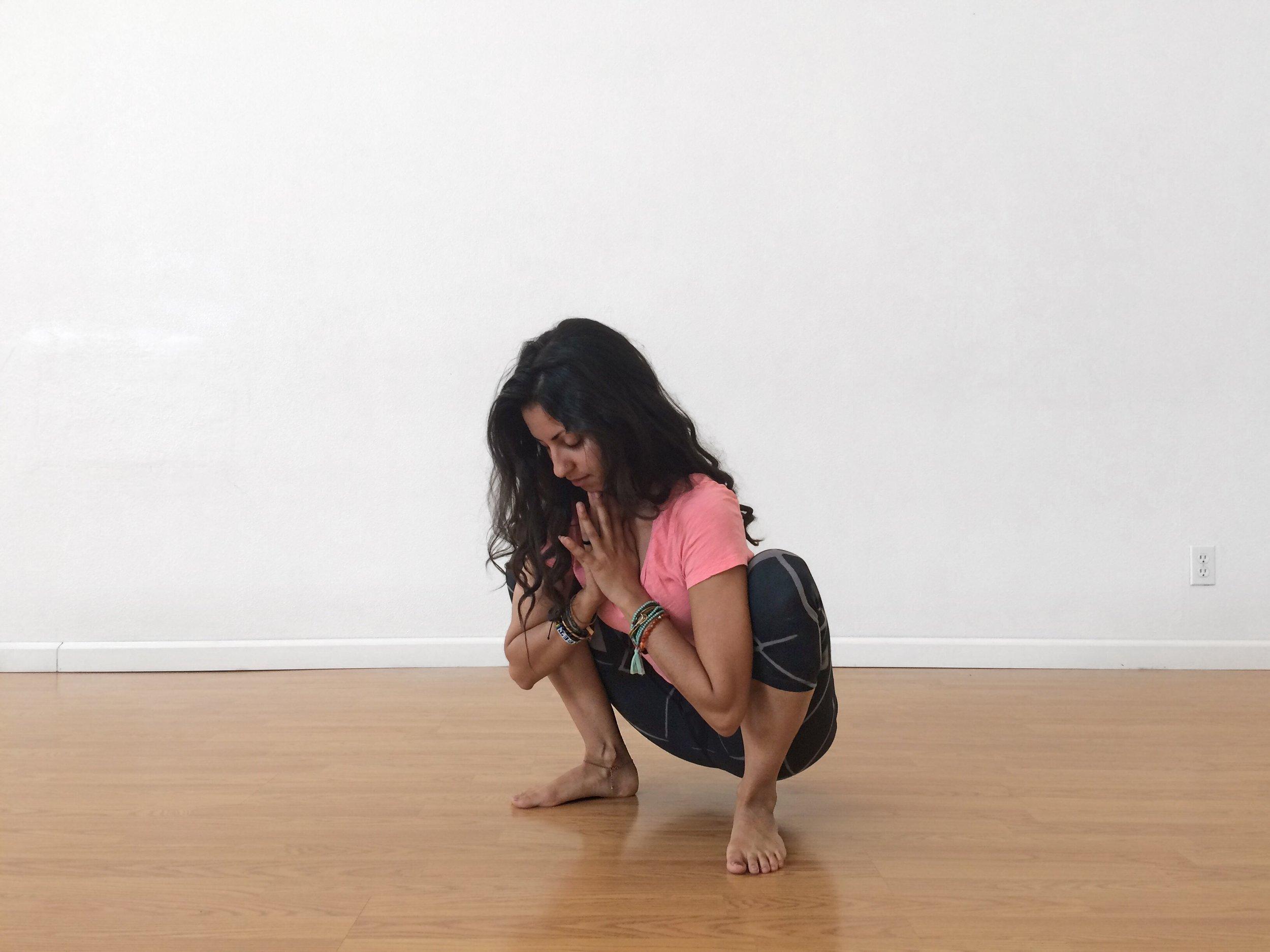 Yogi Squat yoga pose