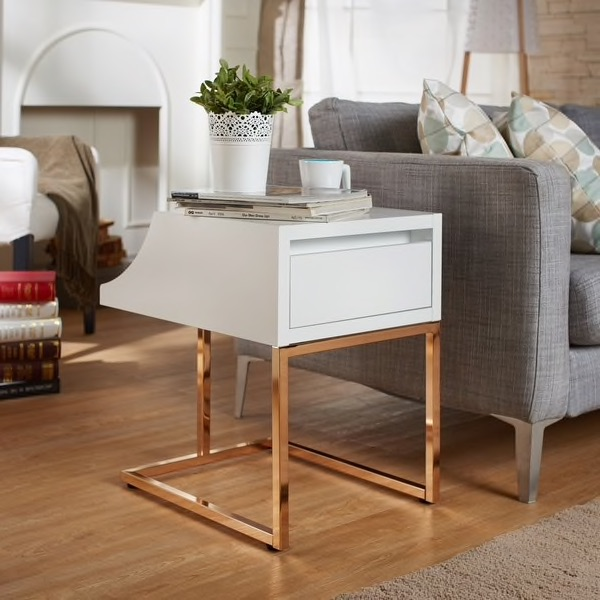 Rose Gold End Table