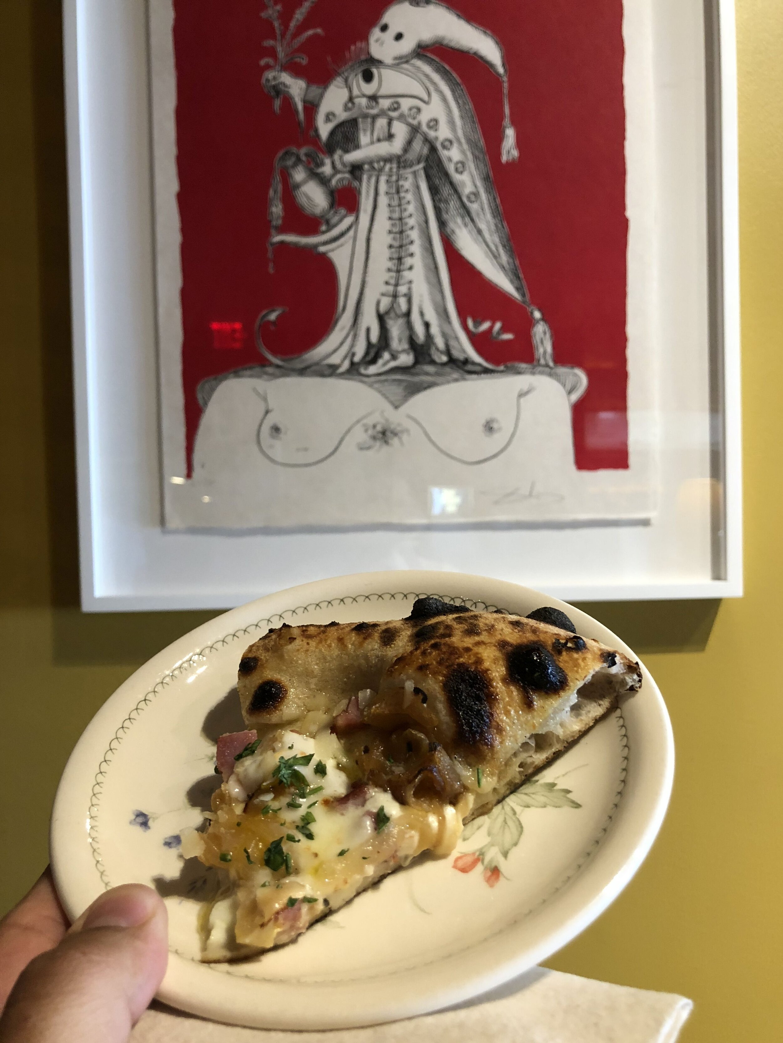 See, told you. My pizza and Sal's art.