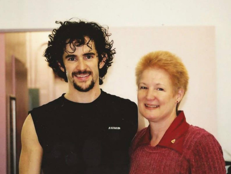 Miss Ann with Broadway dancer/choreographer Andy Blankenbuehler