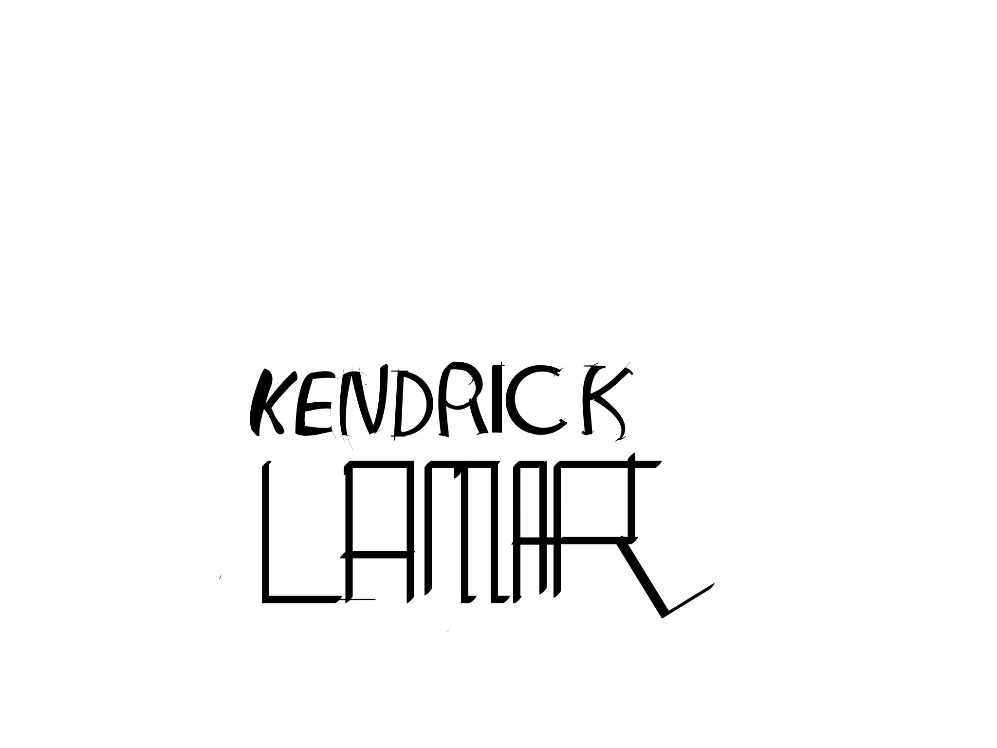 KENDRICK LAMAR: BLACK & WHITE SERIES