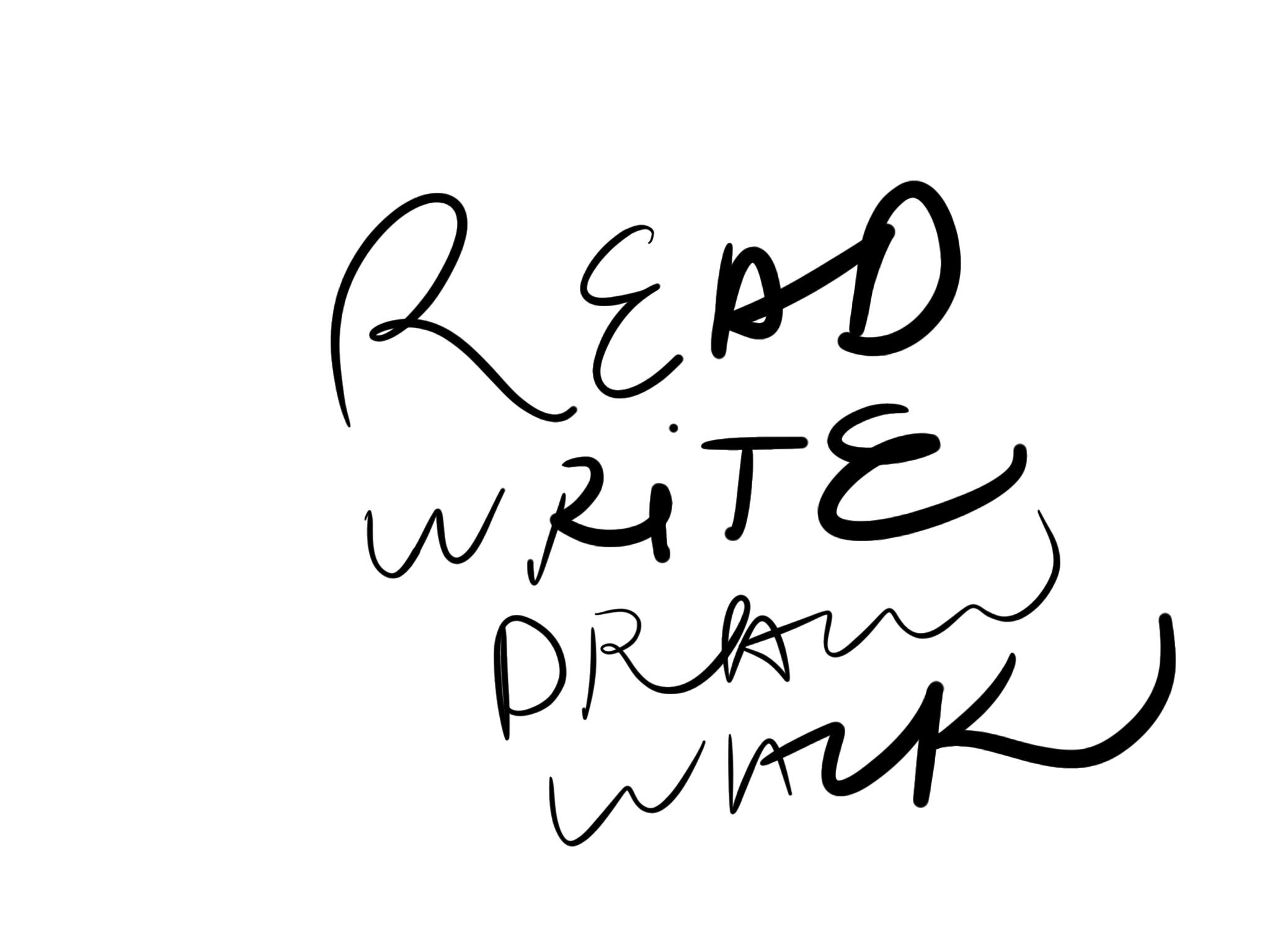 Read Write Draw Walk: