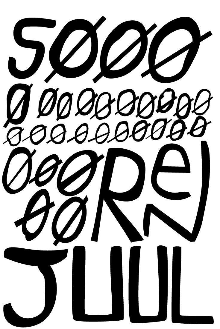 Søren Juul, is an Danish singer-songwriter. Typographic treatment. Hand Lettering.