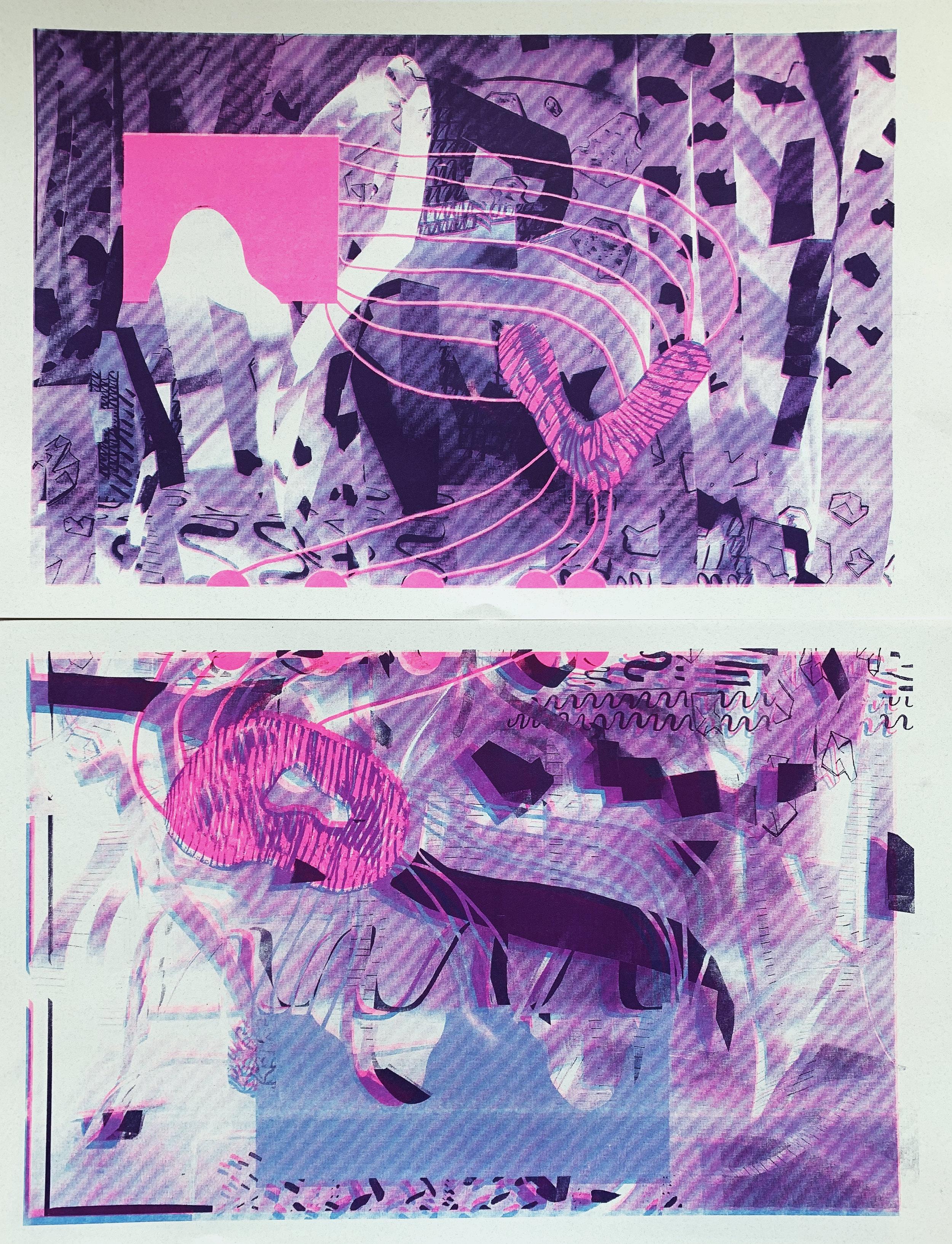 Risograph Print titled AVOW