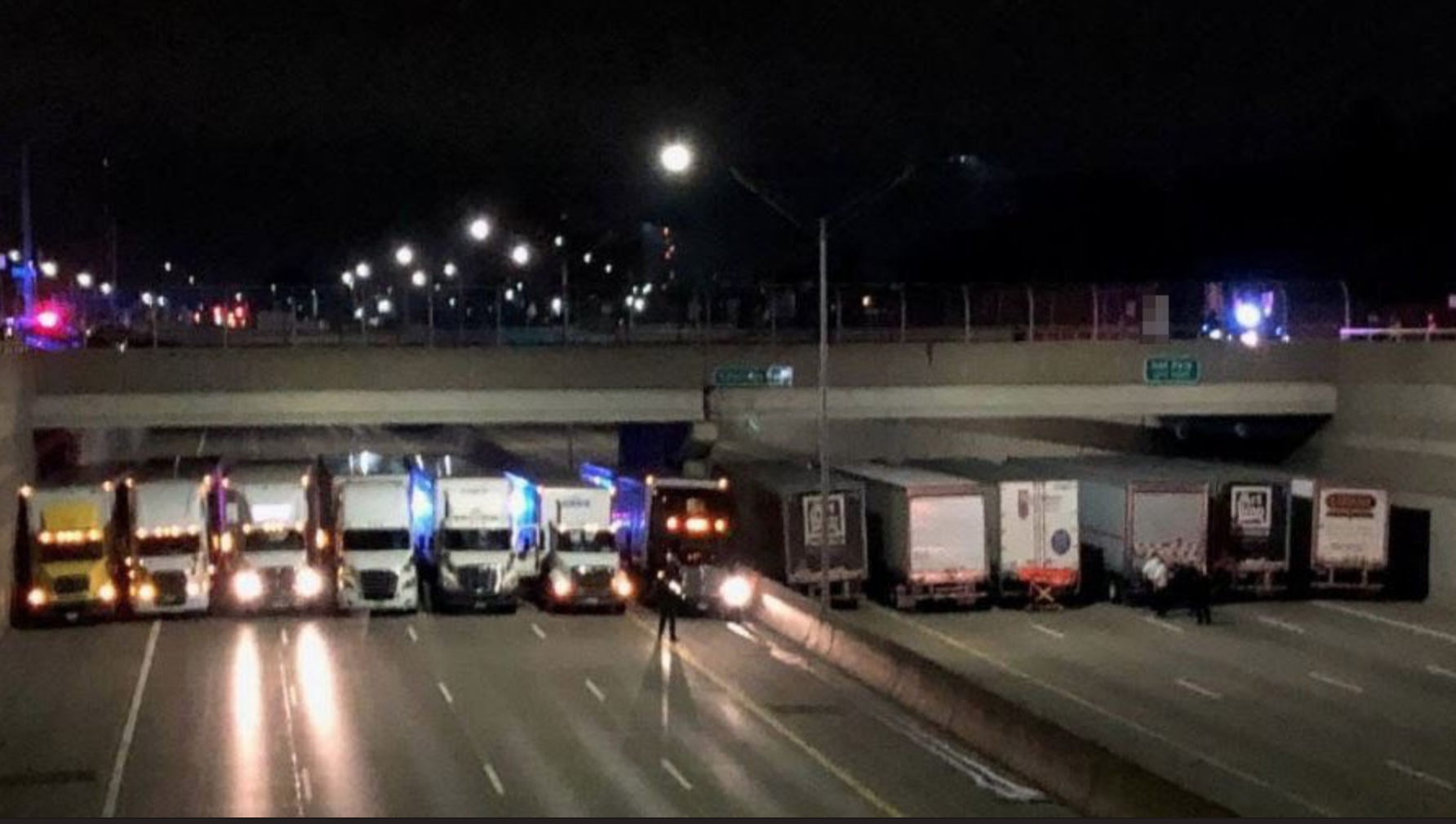 The trucker wall to prevent a man's suicide