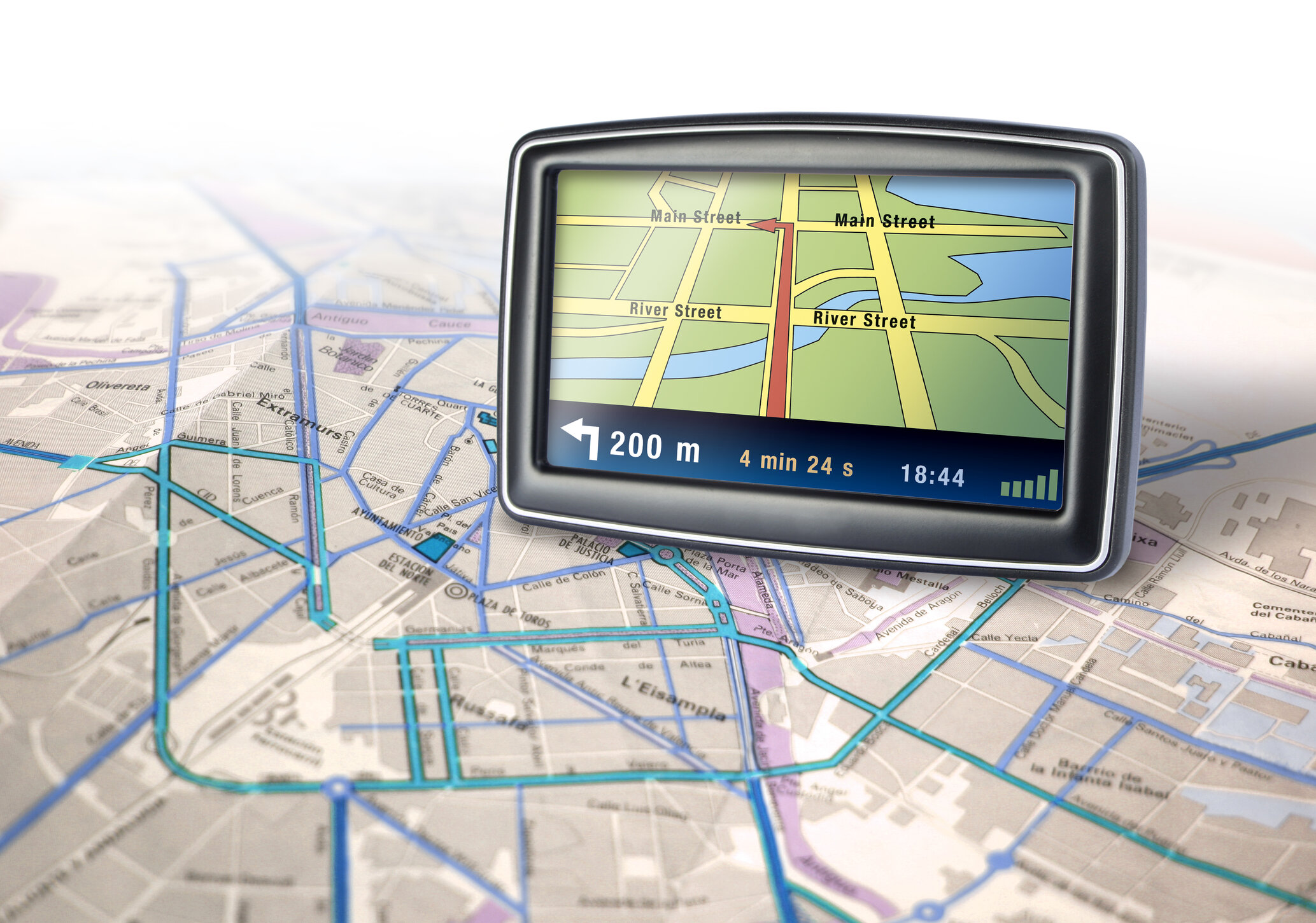 Update your device's software and maps regularly, and have a road atlas and/or traditional paper maps available as a backup or if the GPS malfunctions.